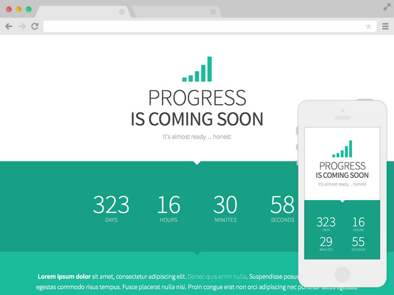 Progress free responsive template free website templates progress downloads 22312 progress is a responsive coming soon template pronofoot35fo Choice Image