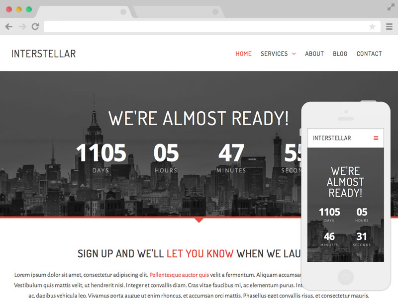 Download free website templates free web templates free interstellar 1957 downloads pronofoot35fo Images