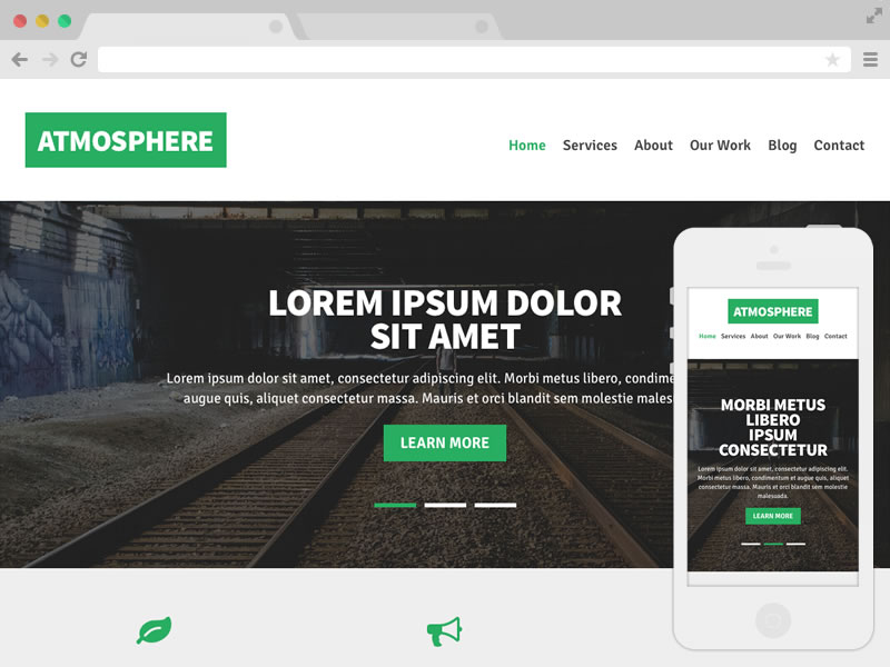 atmosphere free responsive template free website templates - Free Website Templates